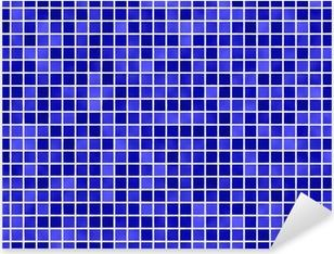 Fliesen blå flise blå Pixerstick klistermærke