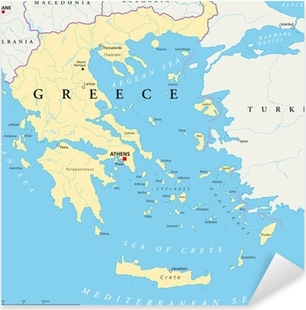 Griechenland Landkarte Pixerstick klistermærke