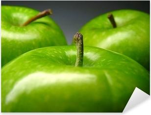Grønt æble Pixerstick klistermærke