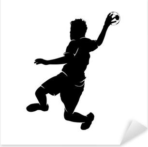 Håndboldspiller Pixerstick klistermærke
