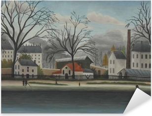 Henri Rousseau - Suburban Scene Pixerstick klistermærke
