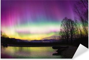 Ikke almindelig Aurora Borealis i Vermont. Pixerstick klistermærke