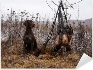 Jagt hund Pixerstick klistermærke