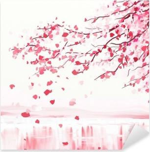 Japansk kirsebærtræ Pixerstick klistermærke