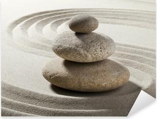 Jardin zen avec sable et galets Pixerstick klistermærke