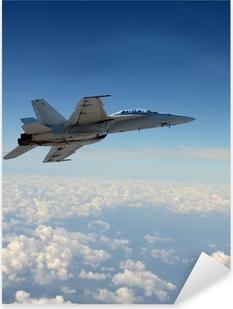 Jetfighter i flyvning Pixerstick klistermærke