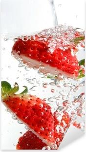 Jordbær splash Pixerstick klistermærke