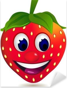 Jordbær tegneserie karakter Pixerstick klistermærke
