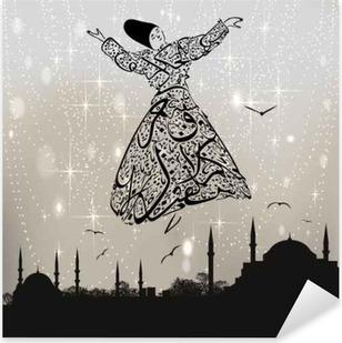 Kalligrafi dervish og istanbul moskeer Pixerstick klistermærke
