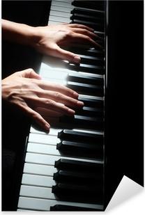 Klaver nøgler pianist hænder tastatur Pixerstick klistermærke