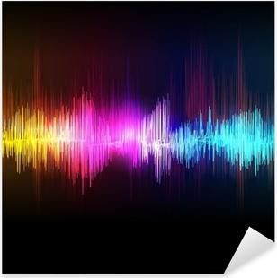 Musik equalizer bølge Pixerstick klistermærke