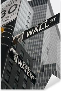 New York - Wall Street Pixerstick klistermærke