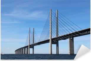 Öresund Brücke - Verbindung zwischen Dänemark und Schweden Pixerstick klistermærke