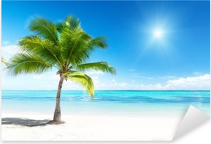 Palme og hav Pixerstick klistermærke