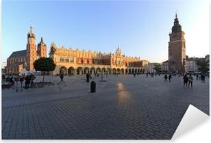 Piazza centrale di Cracovia Pixerstick klistermærke