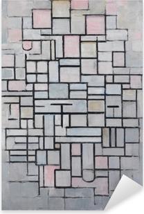 Piet Mondrian - Sammensætning nr 4 Pixerstick klistermærke