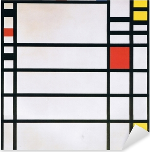 Piet Mondrian - Trafalgar Square Pixerstick klistermærke