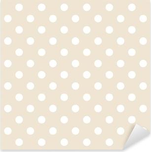 Polka prikker på neutral baggrund retro sømløs vektor mønster Pixerstick klistermærke