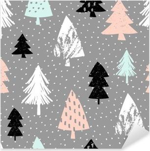 Problemfri julemønster Pixerstick klistermærke