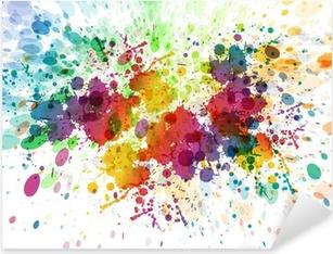 Raster version af abstrakt farverig splash baggrund Pixerstick klistermærke
