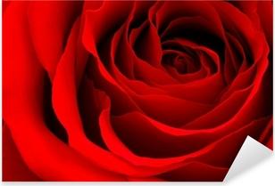 Rød rose Pixerstick klistermærke