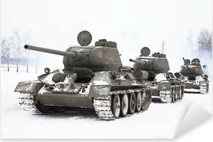 Russiske tanke T34 Pixerstick klistermærke