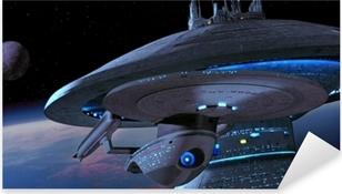 Skib fra Star Trek Pixerstick klistermærke