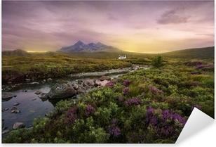 Sligachan floden, Skotland Pixerstick klistermærke