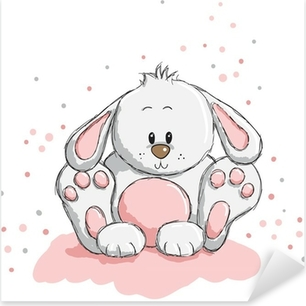 Sød kanin Pixerstick klistermærke