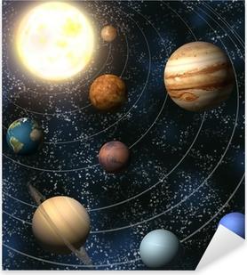 Solsystem Pixerstick klistermærke