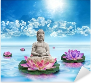 Statue Bouddha Pixerstick klistermærke