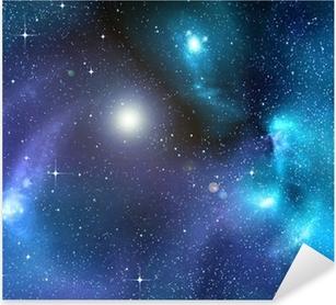Stjerneklar baggrund af dybt ydre rum Pixerstick klistermærke