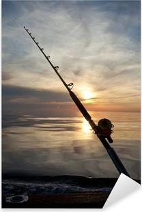 Stort spil fiskeri Pixerstick klistermærke