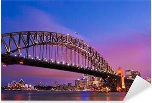 Sydney habour bridge - sydney city Pixerstick klistermærke