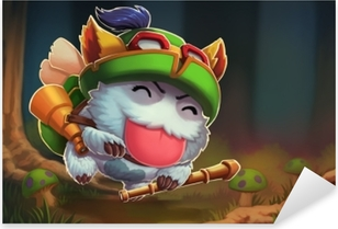 Teemo - Legends League Pixerstick klistermærke