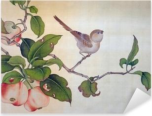 Traditionel kinesisk maleri Pixerstick klistermærke