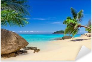 Tropisk strandlandskab i Thailand Pixerstick klistermærke