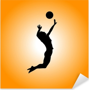 Volleyball Pixerstick klistermærke