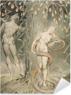 William Blake - Eve fristet af Serpent Pixerstick klistermærke