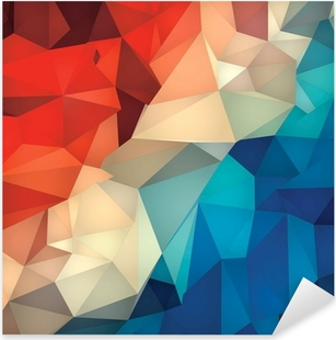 Pixerstick-klistremerke Abstrakt geometrisk lav poly bakgrunn