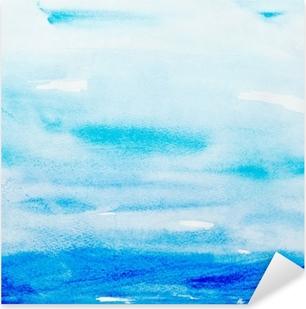 Pixerstick-klistremerke Fargestrømmer akvarell maleri kunst