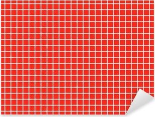 Pixerstick-klistremerke Fliesen rotte fliser rød