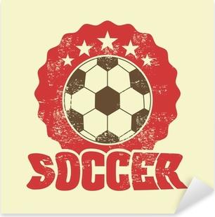 Pixerstick-klistremerke Fotballdesign