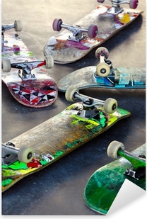 Pixerstick-klistremerke Gamle Skateboards