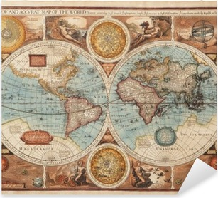 Pixerstick-klistremerke Gammelt kart (1626)