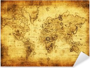 Pixerstick-klistremerke Gammelt kart over verden.