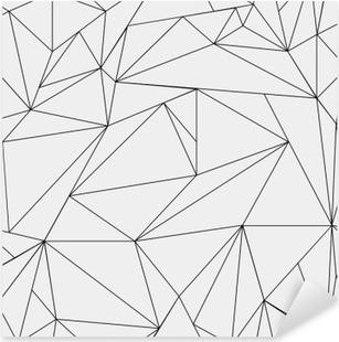 d9c93e1b Pixerstick-klistremerke Geometrisk enkelt svart og hvitt minimalistisk  mønster, trekanter eller farget glass.