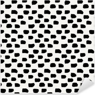 Pixerstick-klistremerke Hånd tegnet abstrakt sømløs mønster