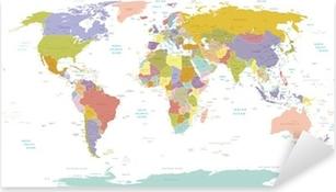 Pixerstick-klistremerke High Detail World map.Layers brukt.