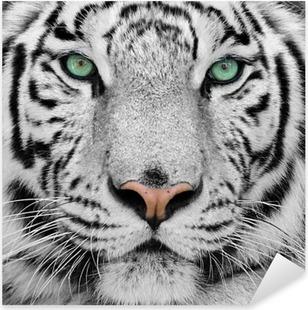 Pixerstick-klistremerke Hvit tiger